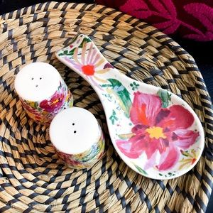 Opalhouse • Floral Stoneware Spoon Rest